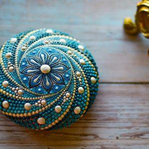 Mandala Casted Stone