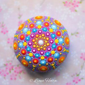 Mandala Wood Pebbles